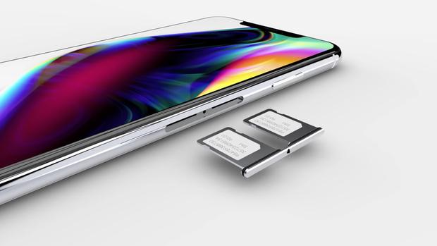Trong khi đó phiên bản đắt nhất với màn hình 6,5 inch OLED có thể có giá từ 900 USD đến 1.000 USD, theo Ming-Chi Kuo. Trong concept bạn đang thấy, tác giả còn kì vọng iPhone mới sẽ hỗ trợ hai SIM.