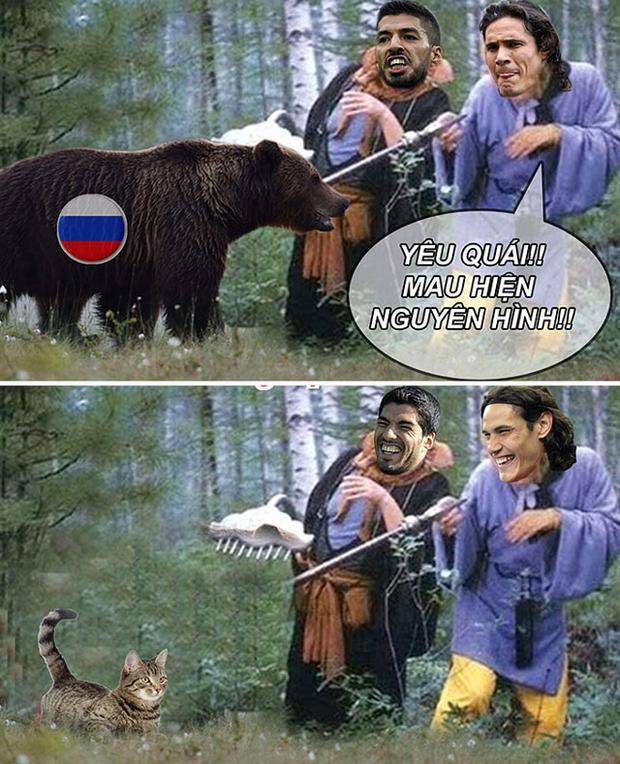 ĐT Nga hiện nguyên hình khi đối đầu với Uruguay.
