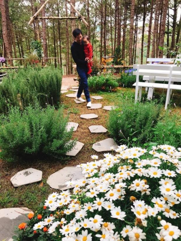 Căn biệt thự được xây dựng trên miếng đất rộng 500 m2. Trong đó, căn biệt thự chỉ khoảng 100 m2, nằm giữa đồi thông, bao quanh là khu vườn nhỏ với đủ loại hoa lá.