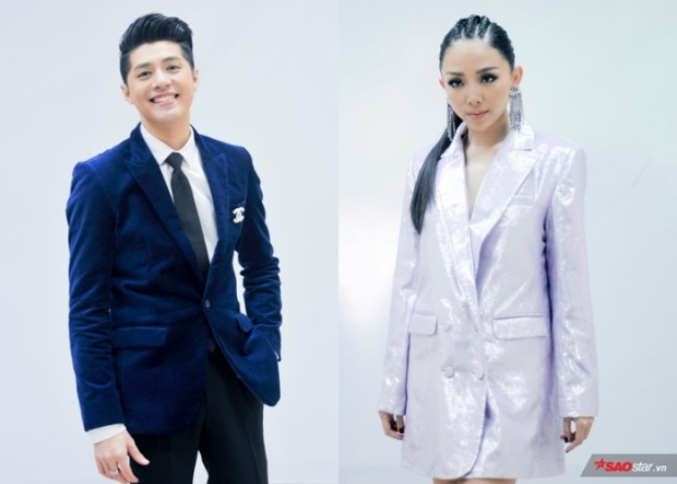Noo Phước Thịnh - Tóc Tiên tại vòng ghi hình đối đầu The Voice 2018.