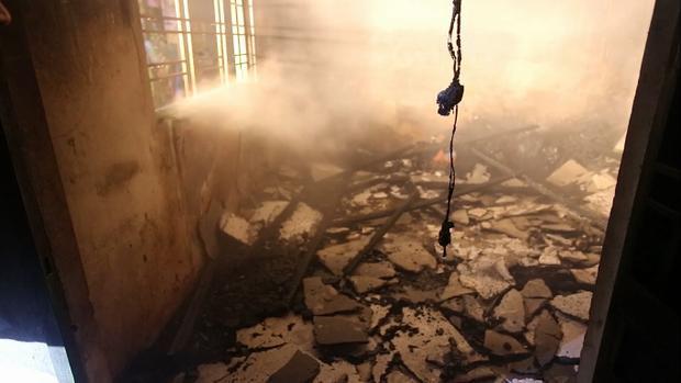Vụ cháy khiến nhiều tài sản bị thiêu rụi. Ảnh: CTV