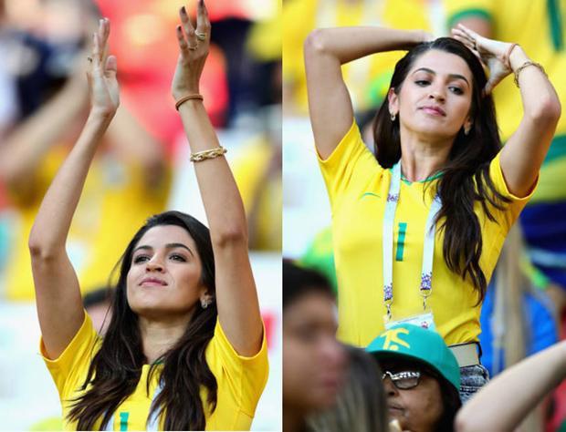 Mê mẩn ngắm nhìn dàn CĐV nữ xinh đẹp của tuyển Brazil