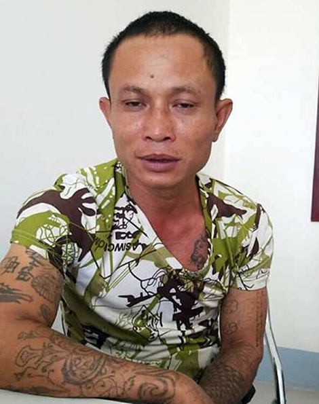 Đối tượng Nguyễn Văn Quân tại Cơ quan công an. Ảnh: CAND.