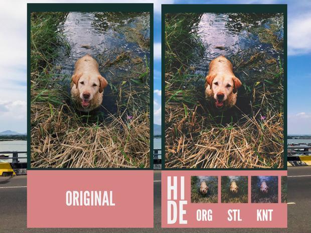 Tiếp đến, bạn hãy ấn vào mục Original để lựa chọn những bộ lọc màu sắc khác nhau cho ảnh.