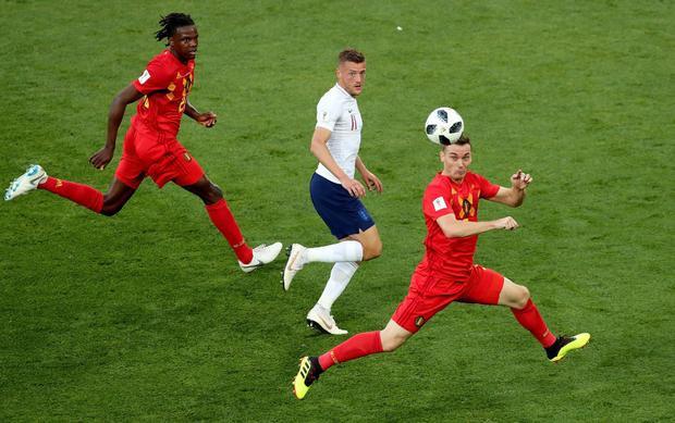 Trận đấu giữa ĐT Anh với ĐT Bỉ đã diễn ra khá cởi mở. Ảnh: Fifa.com.