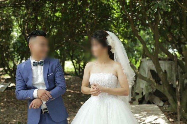 Ảnh cưới của vợ chồng anh L.