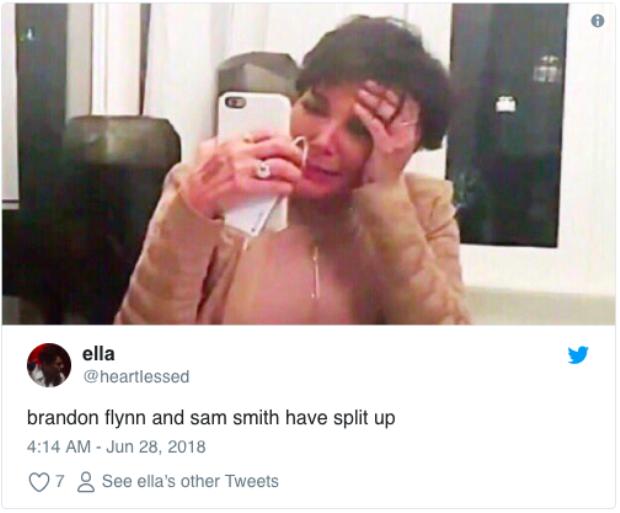 """""""Brandon Flynn và Sam Smith chia tay rồi"""" *hình ảnh đau khổ*"""
