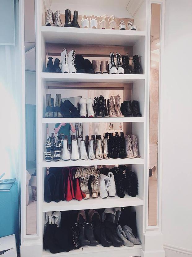 Choáng với thú chơi đồ hiệu, tủ giày túi khủng của chị em dâu nhà Bảo Thy