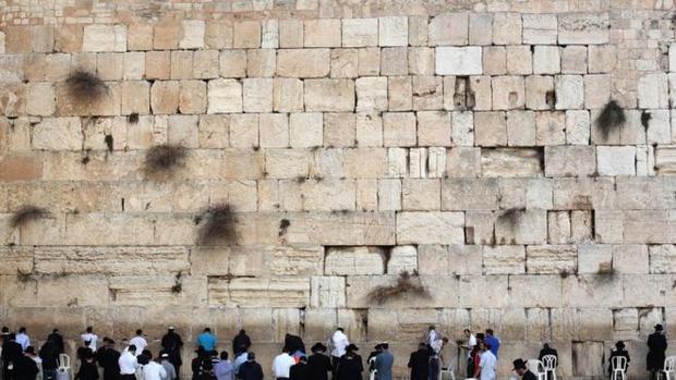 Nhiều người cầu nguyện bên Bức tường Than khóc ở Jerusalem. Ảnh: AFP