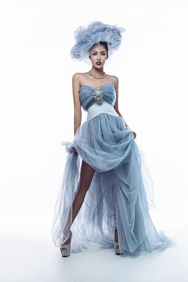 Lan Khuê cùng hình ảnh cô dâu hiện đại trong thiết kế váy cưới màu xanh ngọc bích cùng chiếc mũ ấn tượng.