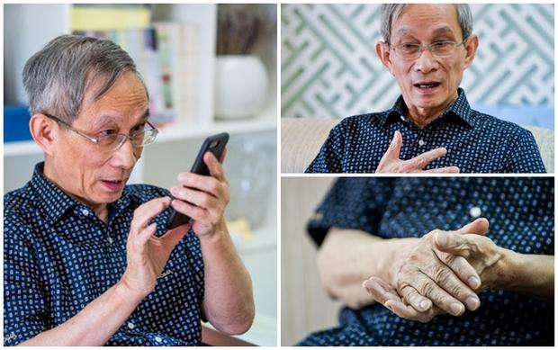 Thầy Nguyễn Xuân Khang kể về những năm tháng học và thi trong chiến tranh. Ảnh:Quỳnh Trang.
