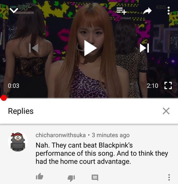 """""""Họ không thể đánh bại được màn cover của BlackPink dù có lợi thế sân nhà (cùng công ty JYP với Wonder Girls)."""""""