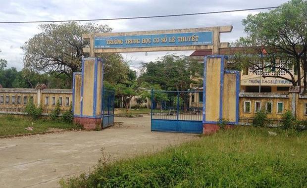 Trường THCS Lê Thuyết nơi cô N. công tác và bị nam thanh niên lẻn vào hiếp dâm khi cô này đang trực hè (Nguồn: VTC)
