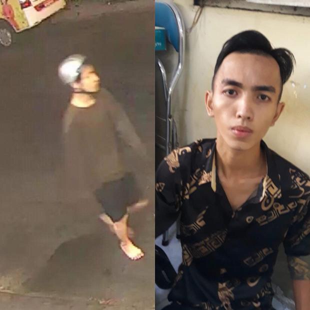 Một đối tượng trực tiếp sử dụng hung khí và hành hung các nạn nhân. Ảnh: Nguyễn Nam.