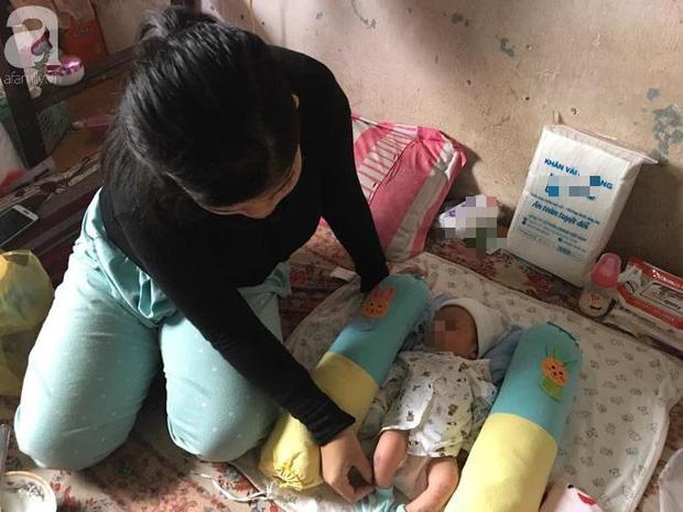 Bé Trang chăm sóc con trai sơ sinh, mong muốn có đủ sữa, tả cho bé.