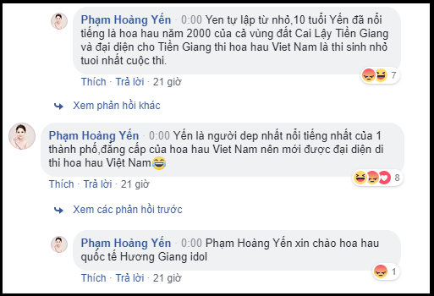 Phạm Hoàng Yến tự tin khoe về các thành tích của mình khi nhận về phản hồi không mấy tích cực của dân mạng