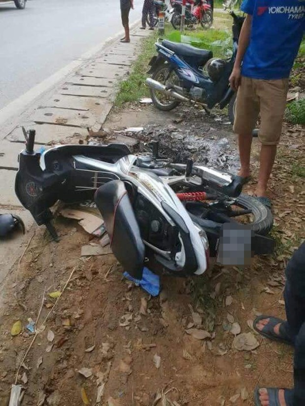 Chiếc xe máy của nạn nhân.