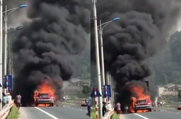 Hình ảnh vụ hỏa hoạn được chia sẻ trên mạng xã hội.