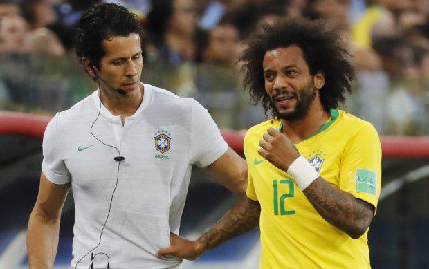 Marcelo không thể ra sân trong trận đấu gặp Mexico. Ảnh: EPA.