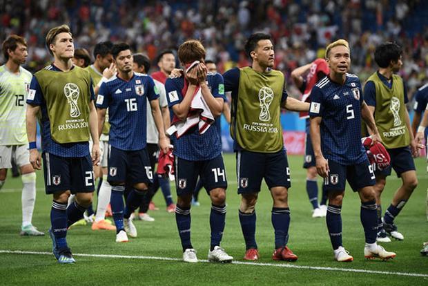 Trong cuộc đọ sức ở vòng 1/8 World Cup 2018, Genki Haraguchi (48′), Takashi Inui (52′) đã cùng nhau tỏa sáng giúp Nhật Bản vượt lên dẫn trước 2-0. Thế nhưng, ĐT Bỉ đã lội ngược dòng giành chiến thắng 3-2 nhờ các pha làm bàn của Jan Vertonghen (69′), Marouane Fellaini (74′), Nacer Chadli (90+4′). Ảnh: Getty.