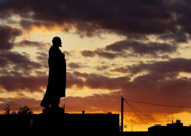 Tượng đài Lenin ở Podolsk gần thủ đô Moscow ngày 21/6.