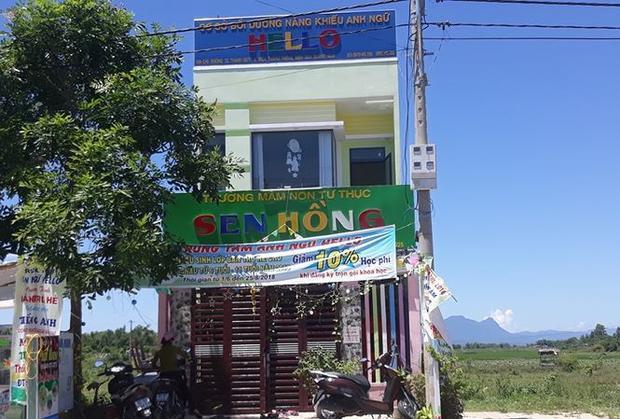 Trường Mầm non Sen Hồng, nơi xảy ra việc hành hung nữ giáo viên. Ảnh: Tiền Phong.