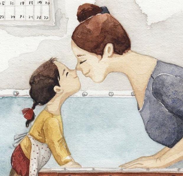 Ở bên cạnh con, lúc nào mẹ cũng thấy vui