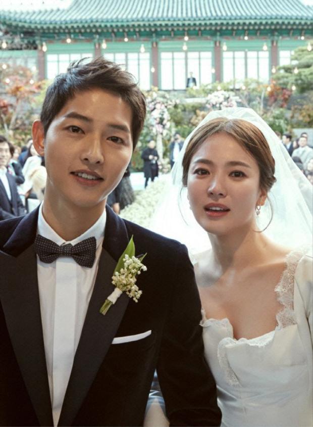 Song Joong Ki và vợ.