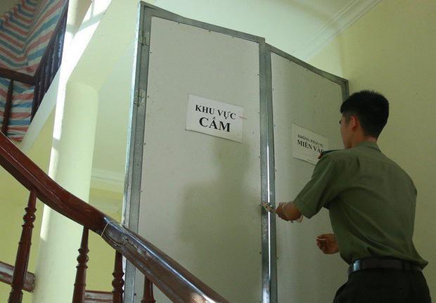 Phòng nhà nghỉ của các bộ chấm thi được cách ly. Ảnh: Dân trí.