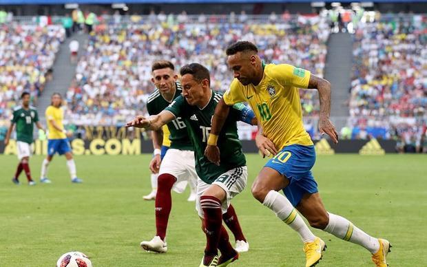 Neymar đang cùng ĐT Brazil trên con đường chinh phục chức vô địch thế giới. Ảnh: Fifa.com.