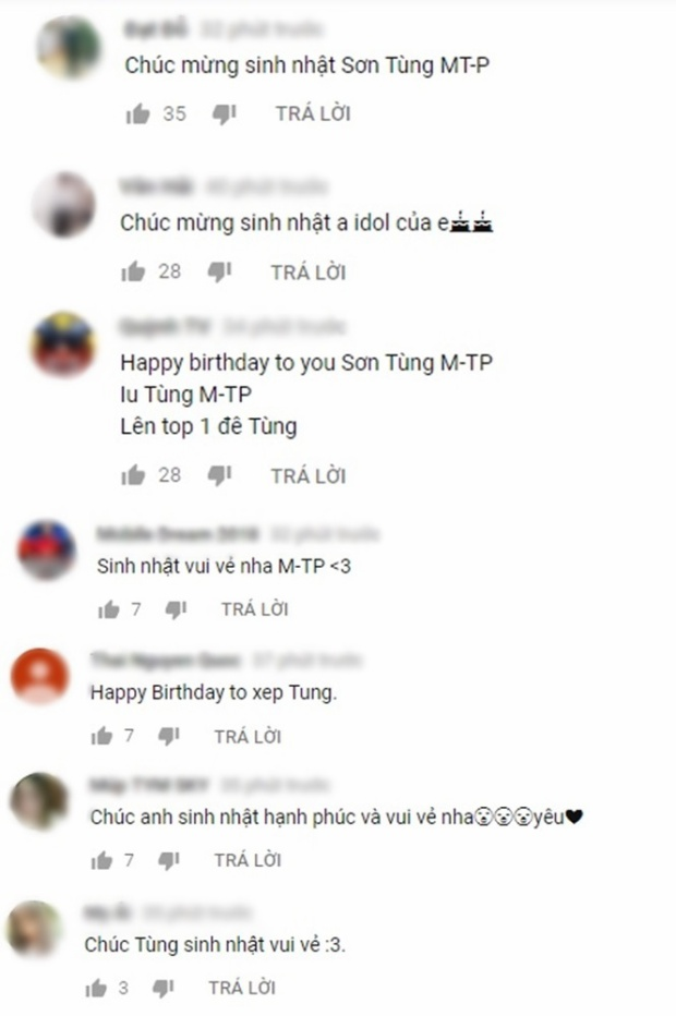 Từ những bình luận trên YouTube…