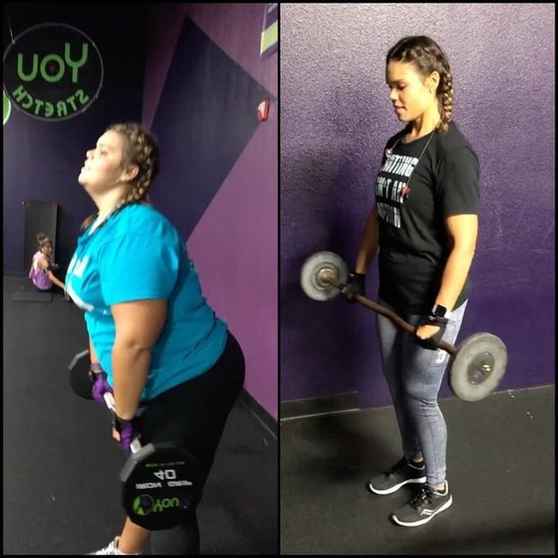 """Trước và sau khi """"kết thân"""" với ăn kiêng và tập luyện trong vòng 1 năm. Cuối cùng, cô đã đạt được mục tiêu đặt ra và rất hài lòng với ngoại hình hiện tại."""