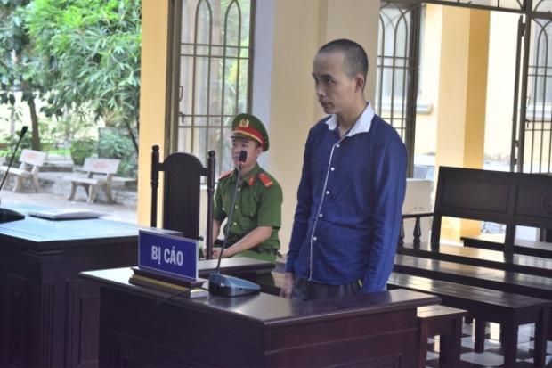 Bị cáo Tín tại phiên tòa. Ảnh: CTV