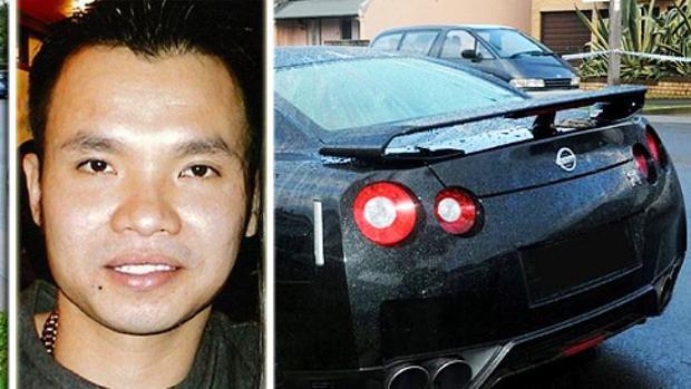 Peter Tân Hoàng và chiếc xe ông lái khi bị bắn chết