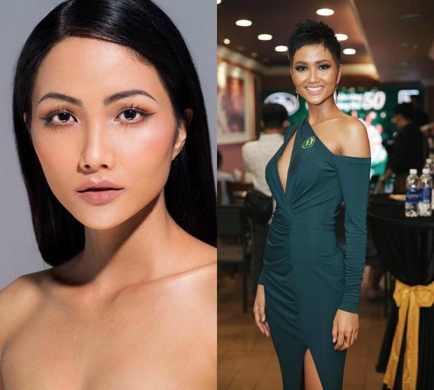 """Đại diện Việt Nam là H'Hen Niê từng sở hữu mái tóc dài đen không thua kém các mỹ nhân quốc tế. Song cô đã cắt phăng đi mái tóc đó, thay thế bởi một cô Hoa hậu tóc tém cá tính. Dẫu biết mái tóc ngắn hiện tại của chân dài Ê Đê là một lợi thế, song khi nhìn những đối thủ của mình H'Hen Niê liệu có """"hồi hay…"""". Tính tới thời điểm hiện tại H'Hen Niê là đại diện duy nhất ở Miss Universe sở hữu mái tóc ngắn chuẩn men."""