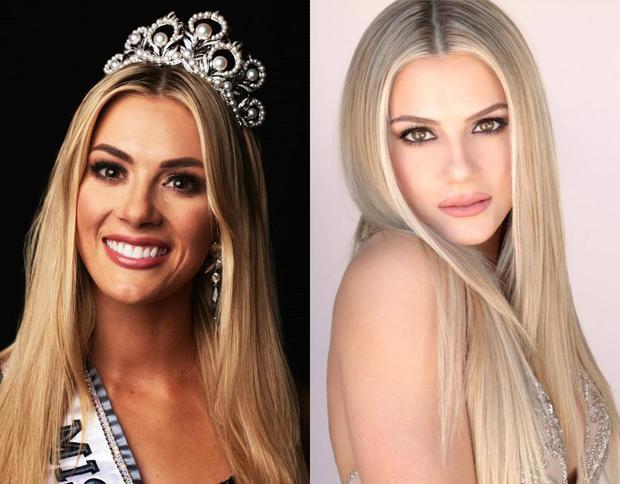Khác với hai nhân Venezuela và Brazil, đương kim Hoa hậu Mỹ có màu tóc vàng bạch kim nổi bật.