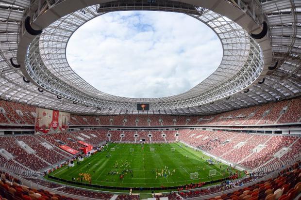 Phía bên trong sân vận động Luzhniki, nơi diễn ra trận chung kết của FIFA World Cup 2018.