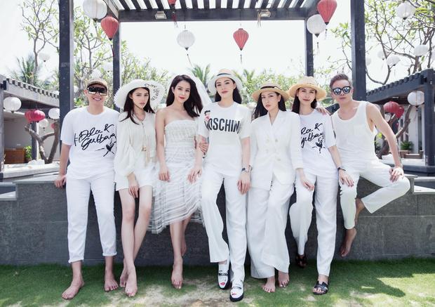 Hình ảnh của Hà Lade, Kỳ Duyên, Jolie Nguyễn bên đám cưới của cô bạn thân Diệp Lâm Anh.