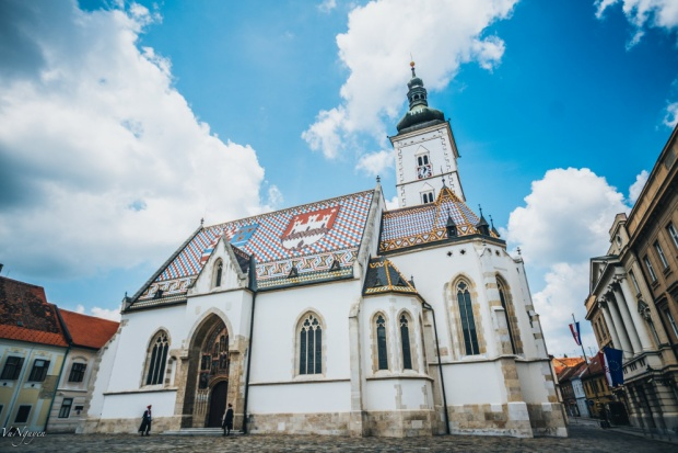 Nhà thờ thánh Mark (St. Mark church) biểu tượng của Zagreb.