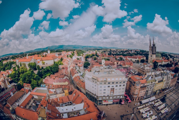 Toàn cảnh Zagreb 360 độ nhìn từ trên cao.