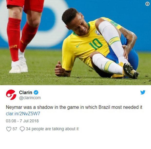 Neymar bị truyền thông Argentina gọi là cái bóng.