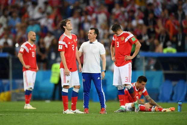ĐT Nga phải dừng bước ở vòng tứ kết. Ảnh: Getty.