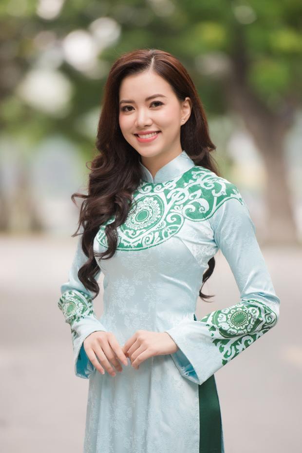Thí sinh Hà Thanh Vân sở hữu nụ cười duyên dáng.