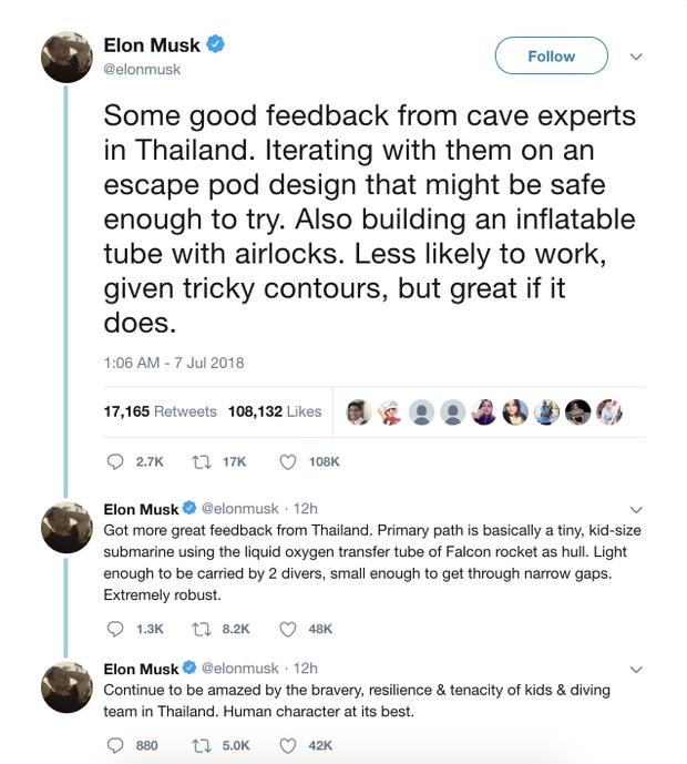 Elon Musk đang chế tàu ngầm cỡ trẻ em để giải cứu đội bóng nhí Thái Lan