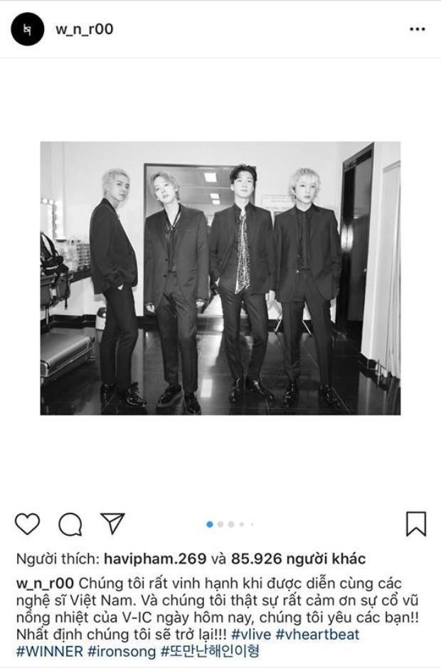 Seungyoon gửi lời cảm ơn đến fan và hứa sẽ trở lại Việt Nam để biểu diễn.