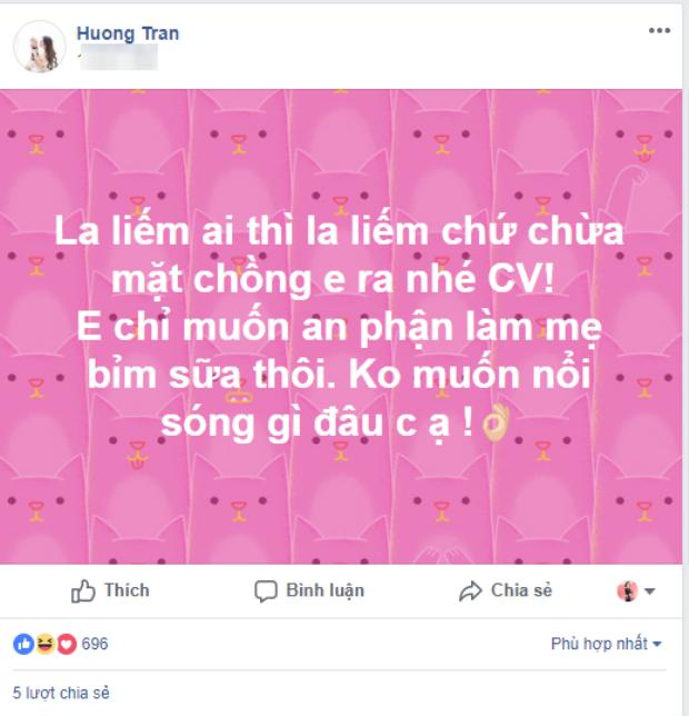 Vợ Việt Anh lên tiếng, đăng status 'dằn mặt' sau tin đồn tình ái của chồng với Quế Vân