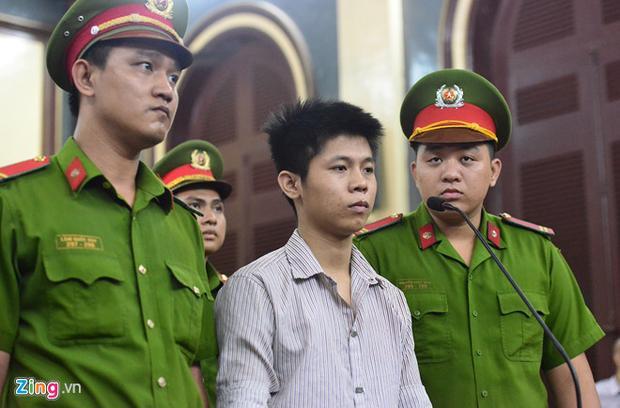 Bị cáo Nguyễn Hữu Tình trong phiên tòa xét xử hôm nay.