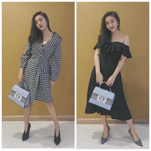 Chỉ với một chiếc túi Furla mà Văn mai Hương đã đem đến hai set đồ khác nhau, cô nàng còn khiến fan thích thú khi chú thích cho từng bộ quần áo, một bên là đồ mùa đông, bên là váy mùa hè.
