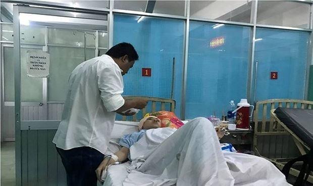 Nạn nhân bị bắn đang được điều trị tại bệnh viện. Ảnh: báo Pháp Luật Việt Nam.
