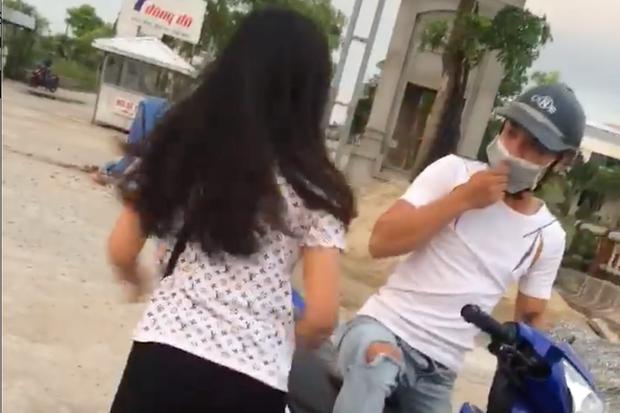 Hình ảnh đôi nam nữ cãi vã vì chuyện tình cảm. (Ảnh cắt ra từ clip).